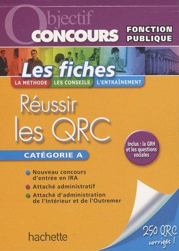 Réussir les QRC catégorie A