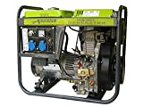 Varan Motors 92601 Elektrischer Diesel Stromerzeuger 5.0kW, 2 x 230V, 1 x 12VDC