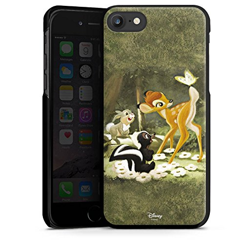 Apple iPhone 7 Plus Tasche Hülle Flip Case Disney Bambi Merchandise Fanartikel Hard Case schwarz