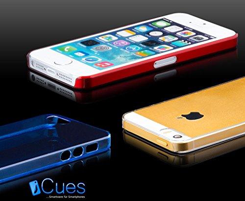Apple iPhone SE / 5S / 5 | iCues Ultra Slim Case Orange | in più di luce molto sottile foglio di protezione trasparente della pelle Sereno Sereno protettivo protezione Coperchio Coperchio [Screen prot Lilla