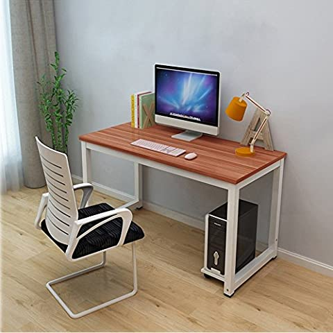 Bigzzia Home Office Desk Modern PC Computer Writing Table Workstation Metal Legs Study Dining
