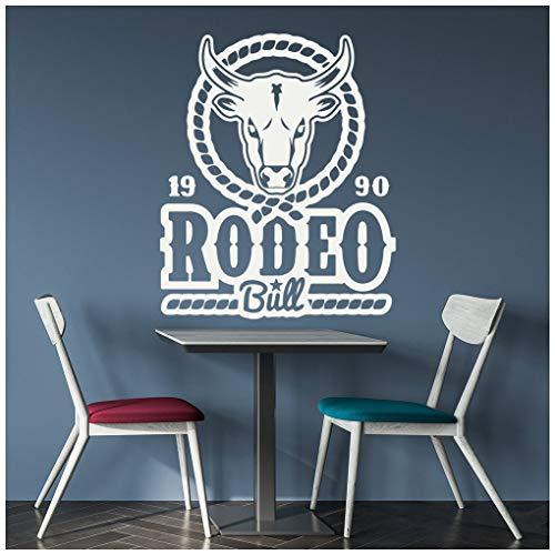 azutura Rodeo Bull Cowboy Western Wandtattoo verfügbar in 5 Größen und 25 Farben Groß Gold Metallic