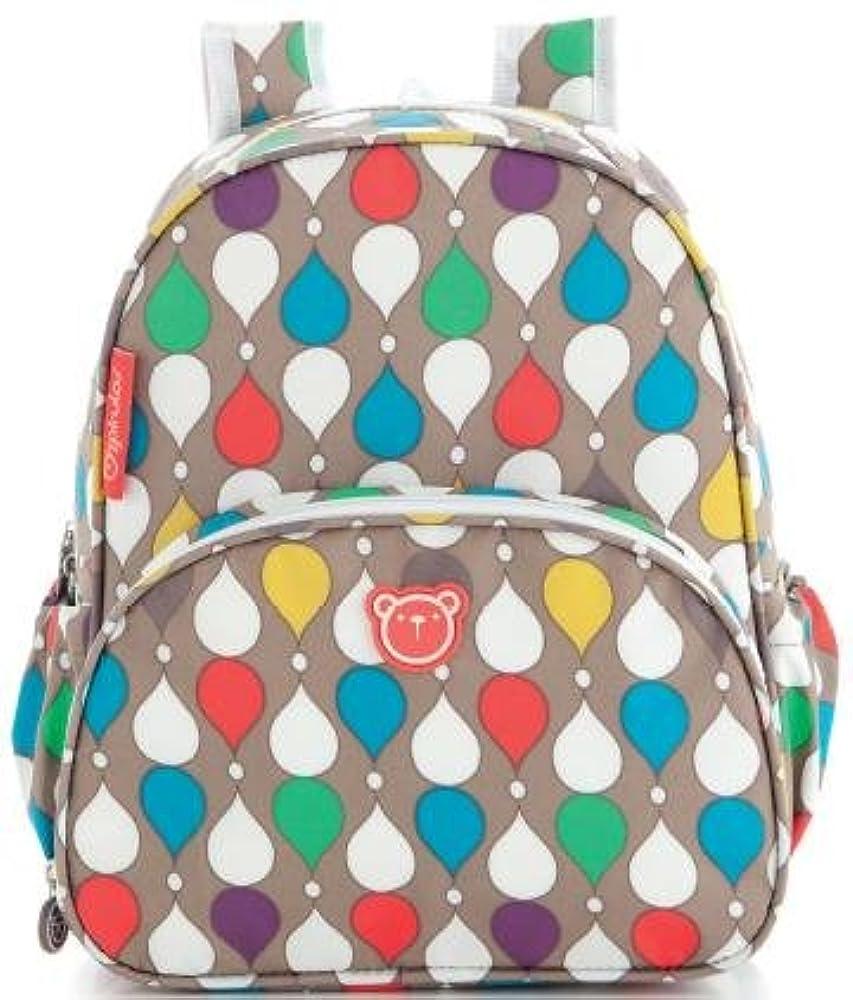 pirulos 47430900Rucksack, Design Drops, 26x 30x 12cm, Leinen