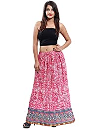 Gaurangi Women's Designer Skirt,Tribal Printed Long Maxi Skirt