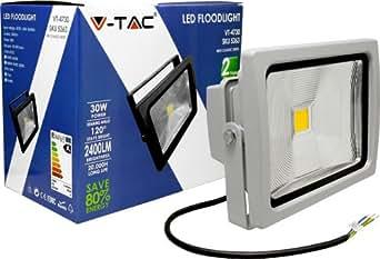 V-TAC 5363 VT-4730 Projecteur LED 30 W 3000 K (blanc chaud) IP 65 2400 lm Équivalent halogène : 120 W