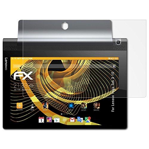 atFolix Panzerfolie kompatibel mit Lenovo Yoga Tab 3 10 Schutzfolie, entspiegelnde & stoßdämpfende FX Folie (2X)