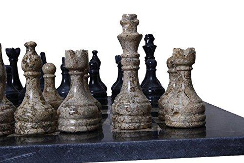 Radicaln-Handmade-Black-Coral-Chess-Set-32-Weighted-Chess-Pieces-Antique-Chess-Board-Set-Radicaln-handgefertigte-Black-Coral-Schachspiel-32-gewichtete-Schachfiguren-antike-Schachbrett-Set