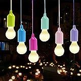 Pre&Mium 6 Stück Lamping LED Leuchte Lampen Camping Laterne Licht für Wandern, Angeln, Schreibtisch, Camping, Zelt, Garten, BBQ oder einfach als dekorative Lampe Batteriebetrieben