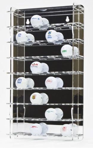 SORA vitrine de balle de golf acrylique pour 32 balles de golf, avec panneau arrière en miroir