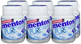 Mentos Kaugummi Pure White Sweet Mint, 6er Box Kaugummi-Dragees, zuckerfrei mit Minze + Extrakten aus weißem Tee