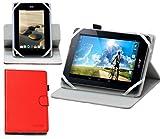 Navitech housse étui rotatif avec support intégré pour IT WORKS TM785 tablette tactile (rouge)