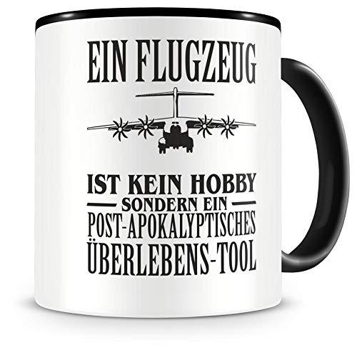 Samunshi Ein Flugzeug ist kein Hobby Tasse Kaffeetasse Teetasse Kaffeepott Kaffeebecher Becher