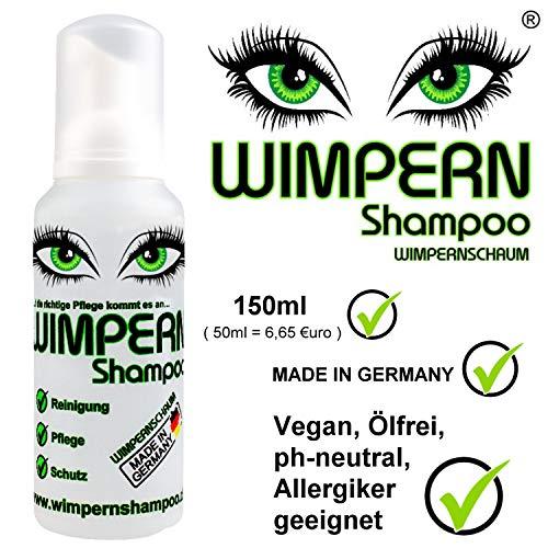 Wimpernshampoo - Wimpernschaum® 150ml, ölfrei, vegan, geeignet für Allergiker, 100% Made in Germany!