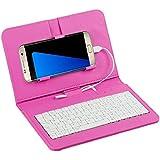 zolimx General Cable teclado Flip Funda caja para teléfono móvil con Android (rosa)