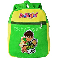Richy Toys Kids Plush Soft Toys Backpack Cartoon Toy Children's Gifts Boy/Girl/Baby/Student Bags Decor School Bag For Kids (Ben 10)