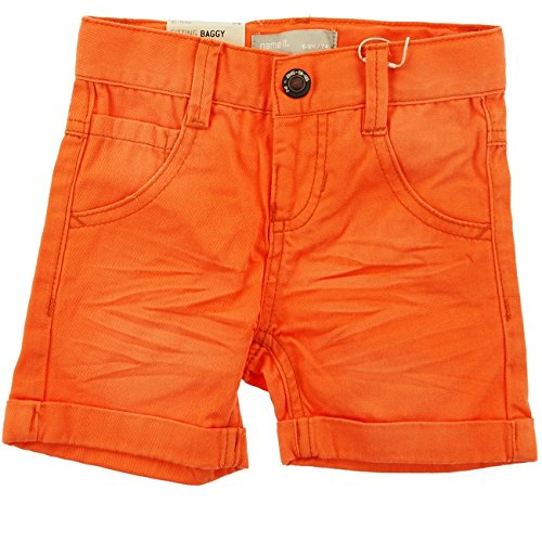 NAME IT tolle Twill Bermuda Shorts Isak in orange Größe 80 bis 164