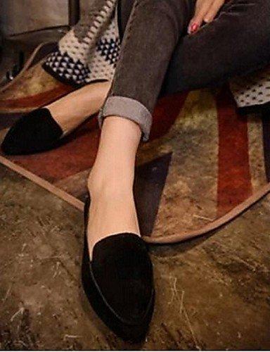 ShangYi Scarpe Donna - Mocassini - Casual - Comoda - Piatto - Finto camoscio - Nero / Marrone / Rosso Red