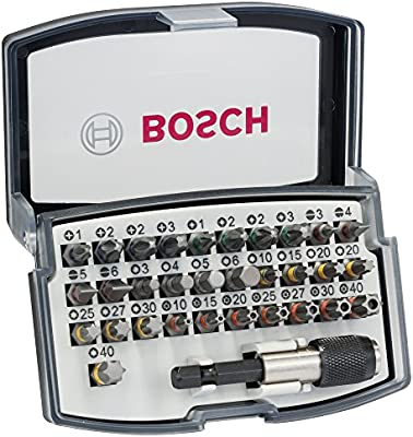 Bosch M289150 - Set puntas 32 unidades profesional, color gris