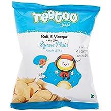 Teetoo Salt & Vinegar Square Plain Chips, 16 gm