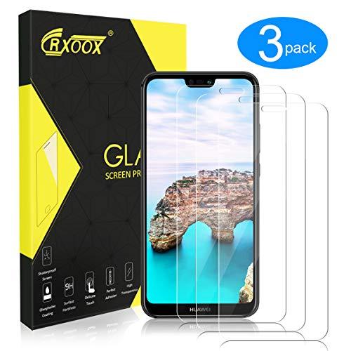 CRXOOX Vetro Protettivo per Huawei P20 Lite, Proteggi Schermo in Vetro Temperato Resistente ai Graffi Proteggi Schermo Pellicola Protettiva Infrangibile per Huawei P20 Lite
