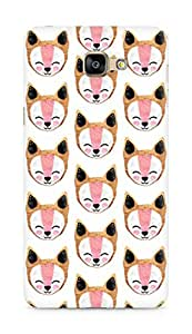 Amez designer printed 3d premium high quality back case cover for Samsung Galaxy A9 (Arctic fox Pattern)