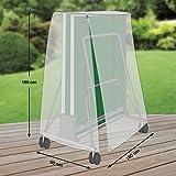 Premium Schutzhülle für Tischtennisplatte aus Polyester Oxford 600D - lichtgrau - von 'mehr Garten'