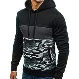TianWlio Hoodies Winter Herren Männer Camouflage Weihnachten Pullover Lange Ärmel Kapuzenpulli Tops Bluse Schwarzgrau M/L/XL/2XL/3XL/4XL/5XL