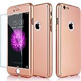 3en 1hybride à 360° avant arrière résistant aux chocs Housse Coque rigide avec or rose [] en verre trempé pour Apple iPhone 6/6s 77Plus, rose gold, iPhone 6/6s