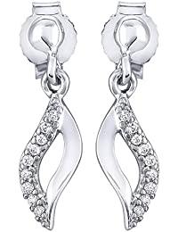 Peora Leafy Goddess Drops for Women(Silver)