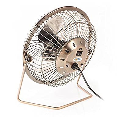 Twitfish® Vintage Art Deco USB Desk Fan