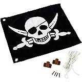 Fahne / Flagge Pirat für Spielturm mit Hisssystem