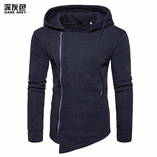 Pendant Le Printemps et l'automne et d'hiver élégant Hommes Fermeture éclair latérale Dispose de la Liaison irrégulière Pull Sweat-Shirts