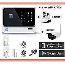 KIT ALARMA SIN CUOTAS WIFI + GSM + GPRS + IP Cámara + Voz y Manual en castellano
