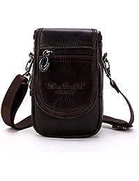 Buyworld Genuine Cowhide Men Waist Pack Shoulder Crossbody Bag Fashion Belt Waist Fanny Pack Phone Case Bag Wallet - B07F5WHDCH