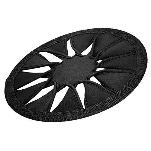 - Weich Flexible Schwimmend faltbar Dog Frisbee Disc Wurfspielzeug Wurfscheibe Wasserspielzeug für Hunde, Schwarz (Frisbees In Der Masse)