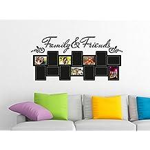 Pegatinas de pared Marcos de cuadros Tatuajes de pared sala de estar Familia (Tamaño=120x57cm//Color=092 Cobre)