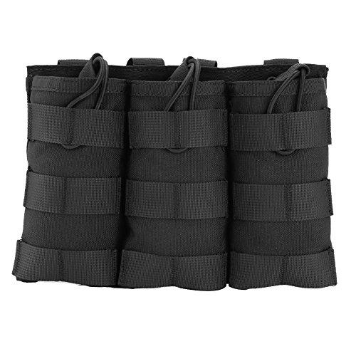 Magazintasche dreifache Tasche Patronentasche Open-Top Molle Tasche Holster Tasche ( Farbe : Schwarz , Design : Triple Pouch )