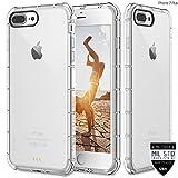#6: ZAAP®(USA) Defender iPhone 7plus Case, Shock-Absorbing protective {Award-winning Tech.} Transparent case /cover+ TPU bumper for iphone7plus ( Transparent/Clear)