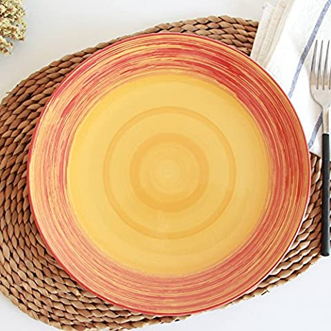 Kreative Gerichte, handbemalte Gerichte, Steaks, Home keramik geschirr, Obst, Frühstücksteller, Tangerine