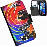 hairyworm-coldplay Nokia Lumia 625 Leder Side Flip Wallet Cover Case für Nokia Lumia 625 Handy