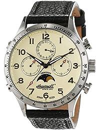 Ingersoll Herren-Armbanduhr Stowe Chronograph Leder IN1227SCR