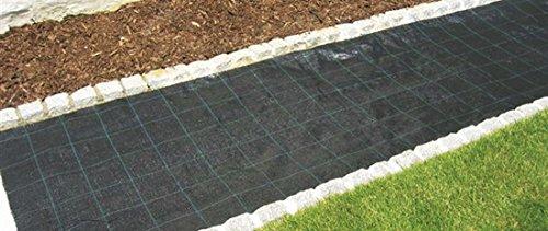ecoSoul 150 M² Sol Mauvaises Herbes Tissu en Largeur 1,5 m x 100 m 100 g/m² de Protection Produit de qualité Allemande