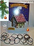 ADVENTSKALENDER mit 24 Edelstein Armbändern Hexenhaus Adventshaus
