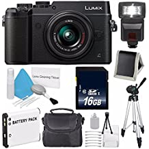 Panasonic Lumix DMC-GX8 With 14-42mm Lens (Black) (International Model) No Warranty + 16GB SDHC Class 10 Memory Card + Memory Card Wallet + Replacement Lithium Ion Battery Bundle 13