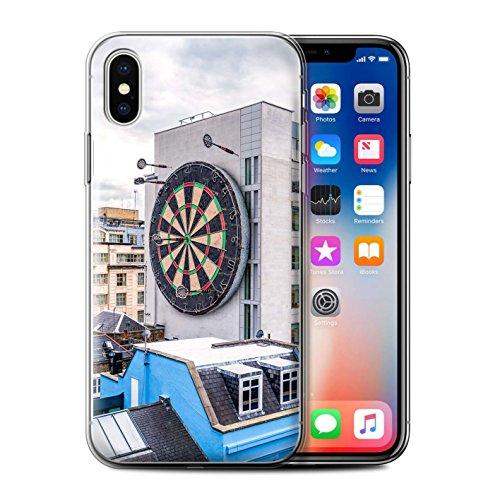 Stuff4 Gel TPU Hülle / Case für Apple iPhone X/10 / Londons Brenn Muster / Vorstellen Kollektion Bullseye