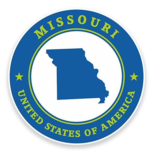 Preisvergleich Produktbild 2 x 15cm/150mm Missouri USAVinyl SELBSTKLEBENDE STICKER Aufkleber Laptop reisen Gepäckwagen iPad Zeichen Spaß #9355