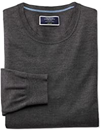 Charcoal Merino Wool Crew Neck Jumper by Charles Tyrwhitt