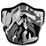WINDMASK Neopren Biker Motorrad Maske Sturmmaske Skimaske - Camouflage Weiß