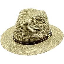 EveryHead Fiebig Sombrero De Paja Los Hombres Verano Playa Vacaciones  Equinácea Gorro Fiesta Con Marrón Banda 0b69c9a638f