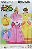 Simplicity 8476 Muster 8476 Damen Super Mario Prinzessinnen Kostüme, Papier, weiß, H5 (36-38)